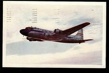 1946 United Airlines DC-6 Mainliner aircraft advertising postcard