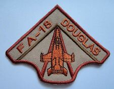 FA-18 HORNET THE MCDONNELL DOUGLAS BROWN Embroidered Iron on Patch Free Shipping