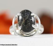 TURTELLA JASPER & 925 Sterling Silver RING Size ~8