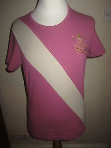 JOULES Mary King Cavalier Violet T-shirt Top Sz 10 Free UKP&P