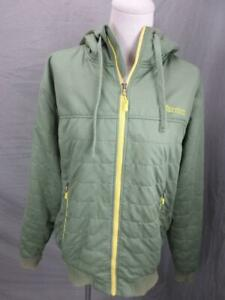 Marmot Size M Mens Khaki Full Zip Insulated Hooded Windbreaker Jacket T336