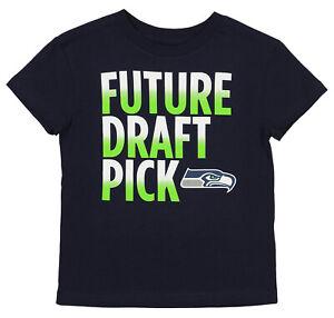 Outerstuff NFL Kids (4-7) Seattle Seahawks Future Draft Pick Tee, Navy