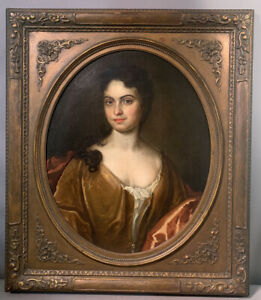 LG 18thC Antique LADY CAMPBELL Old SCOTTISH COURT Style PORTRAIT Oil PAINTING