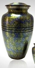 Alloy Ocean Blue Cremation Urn, Funeral Urn , New ~ Great Deal~