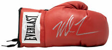 Mike Tyson Signed Red Everlast Right Hand Boxing Glove Silver JSA
