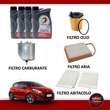 KIT TAGLIANDO PEUGEOT 208 1.4 HDI 68CV 50KW DAL 03/2012 + OLIO TOTAL INEO 5W30