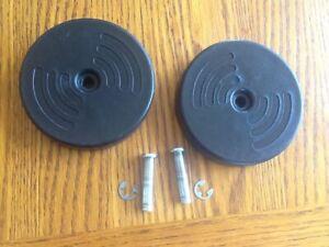 Hoover Steam Vac Spin Scrub F5915 Rear Wheels Axle & Lock Ring - Black