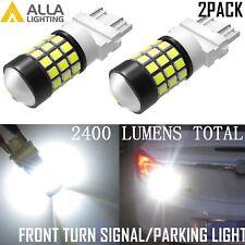 Alla Lighting 39-LED Turn Signal Blinker /Parking Light Bulbs Lamps White 3157
