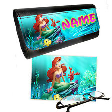 Personalised Disney Princess Ariel Reading Glasses Case & Lens Cleaning Cloth