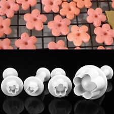 4Pcs Plum Blossom Cutter Cake Cookies Sugarcraft Fondant Decorating Mold Mould H