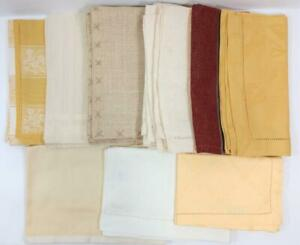 Set of 12 PLACEMATS & NAPKINS 6 each Shades of Gold Cotton Linen Bellino Vietri