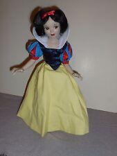 "Disney Porcelain 16"" Snow White Doll on Stand"