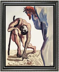 Salvador Dali Divine Comedy Limited Edition Glazed Ceramic Tile Signed Artwork