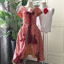 Ancien costume de théâtre Robe Vintage Taffetas de soie damassé Réf- 1707/96-2