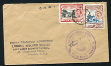 ST. KITTS-NEVIS: (17711) tomb/road/transport/engineer/cachet/cancel/cover