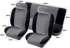 Airbag Safe Full Set Fabric Velour Seat Covers/Protectors Grey/Black For Honda