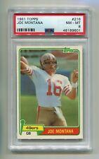 1981 TOPPS JOE MONTANA #216 ROOKIE PSA 8 NM-MT HOF SAN FRANCISCO 49ERS