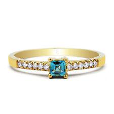 Topaz 9 Carat Yellow Gold Fine Rings