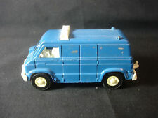 Old Vtg Collectible Blue Diecast Plastic Tootsietoy Toy Police Van Made In USA