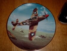 WW#2, P-39M AIRACOBRA FIGHTER PLANE, HAMILTON Collection Porcelain Plate,Vintage