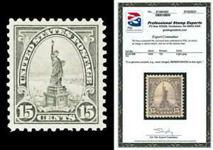 Scott 566 1922 15c Liberty Perforated 11 Mint XF NH Reperforated with PSE CERT!