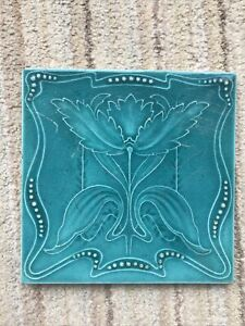 Victorian Turquoise Embossed Victorian Tile 6 in X 6 In