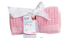 *New sale price* Cellular Baby Blanket 100% Cotton 75Cm x 100Cm  (Pink)