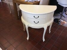 Shabby Chic Antique Cream 1/2 Moon Console Table/Dressing Table
