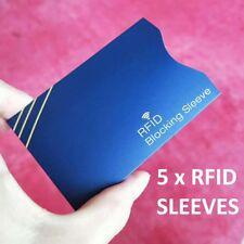 RFID Carte de crédit titulaire manches Protector-bloquant sans contact Aluminium Wallet