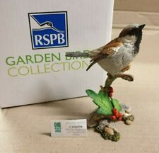 House Sparrow on Hawthorn RSPB British Birds Country Artists CA06094 Boxed