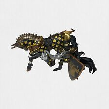 Papo 2007 Fantasy Medieval Black Bull Knight and Horse Figurines NWT Horse