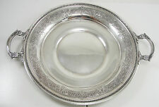 International Sterling Silver Round Tray Handled Hollowware Renaissance Pattern