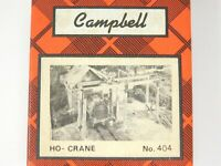 HO 1/87 Scale Campbell 404 Quincy Traveling Crane Craftsman Building Kit