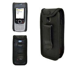 caseroxx Ledertasche mit Gürtelclip für Nokia 2323 und 2330 Classic in schwarz a