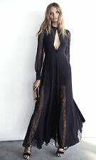 new SOLDOUT EXPRESS EDITION lace inset silk maxi dress 4 s small