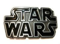 Original STAR WARS metal logo belt buckle NEW design Black Pewter color Cosplay