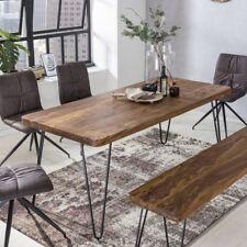 Massiver Esstisch 160 x 80 cm HARLEM Sheesham Holz Tisch Massiv Esszimmertisch