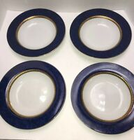 Retroneu Imperial China Collection Soup Cereal Bowls Blue 489 Set of 4