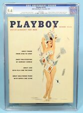 PLAYBOY MAGAZINE November 1957 CGC 9.4 White Pages Sophia Loren Jayne Mansfield