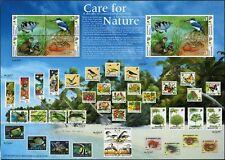 Singapur Singapore 2000 Sungei Buloh Fisch Eisvogel 1011-1014 A und B Bogen MNH