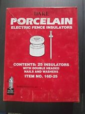 3-Dare Nail On Wood Post Porcelain Electric Wire Fence Insulator 25/Pk 16D-25