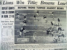 1953 hdln newspaper DETROIT LIONS WIN WESTERN DIVISION NFL Football CHAMPIONSHIP