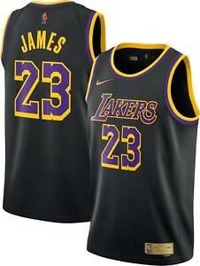 Los Angeles Lakers LeBron James #23 Nike 2021 NBA Swingman Jersey Earned Edition