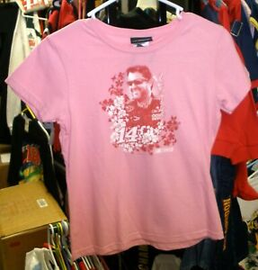 VINTAGE OUTERSTUFF #14 TONY STEWART PINK TEE SHIRT YOUTH GIRLS LARGE SIZE 14 NWT