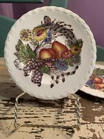 """Vintage Vernon Kilns 6"""" Plate, Set Of 2 - Fruitdale Hand Painted CA, USA Pottery"""