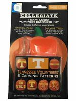 Tennessee Volunteers Team Color Logo Pumpkin Carving Kit 6 Stencil Patterns new