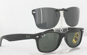 Custom Fit Polarized CLIP-ON Sunglasses For Ray-Ban 2132 55x18 New Wayfarer