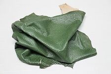 Italian Goatskin leather skin hide skins hides BUBBLES GRAINY GREEN 8sqf #A2170