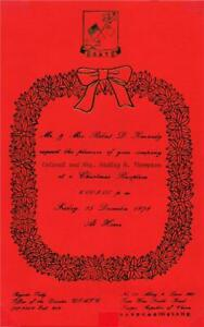 USATG ~ Sends Colonel & Mrs.Thompson an invitation to a 1978 Christmas reception