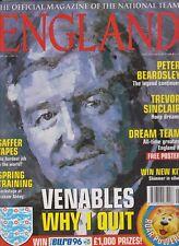 England Ufficiale MAGAZINE MARZO 1996 Inc GIGANTE A2 Inghilterra tutti i tempi grandi poster